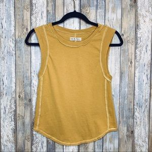 FP We The Free Mustard Muscle Tank Top